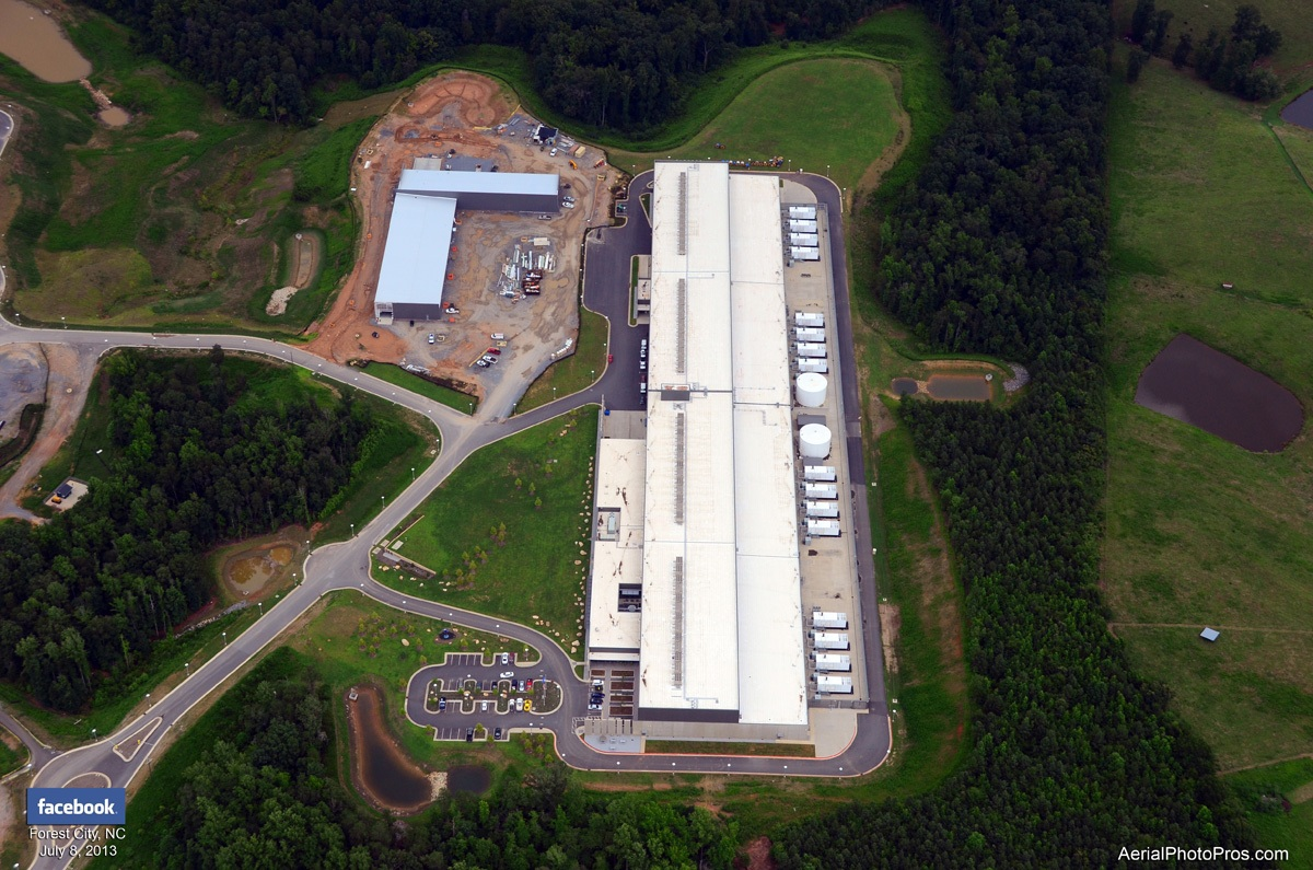 Facebook Data center in Forest City, NC